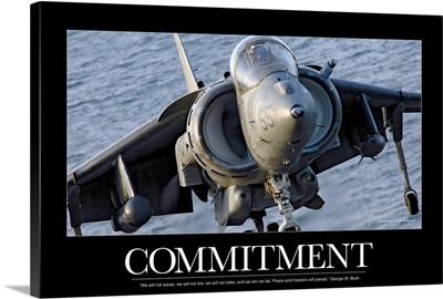Motivational Poster: Close-up view of an AV-8B Harrier II