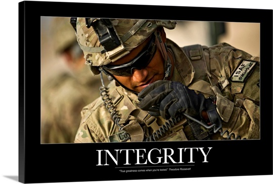 Motivational Poster: Integrity Wall Art, Canvas Prints ...