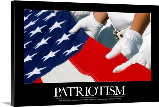 Motivational Poster Us Flag Wall Art Canvas Prints