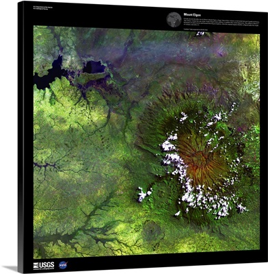 Mount Elgon - USGS Earth as Art