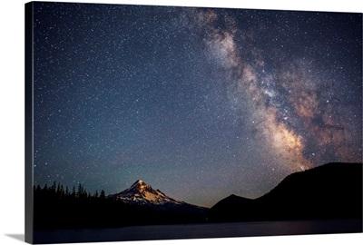 Mount Hood And Milky Way, Portland, Oregon