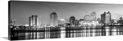 New Orleans Skyline at Dusk - Panoramic