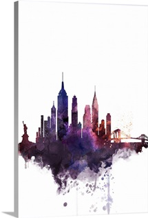New York City Watercolor Cityscape