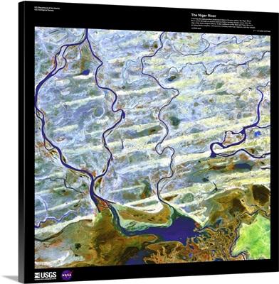 Niger River - USGS Earth as Art