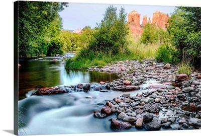 Oak Creek With Cathedral Rock, Sedona, Arizona
