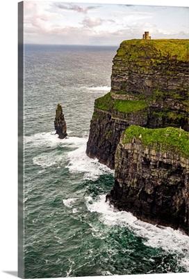 O'Brien's Tower, Cliffs of Moher, Ireland - Vertical