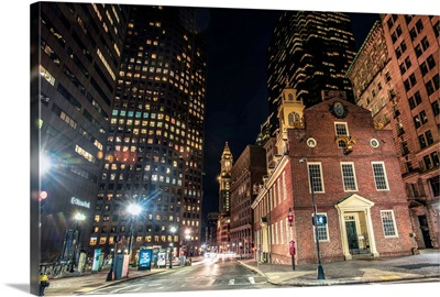 Old State House, Boston at Night