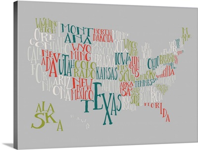 Olive Martini US Typography Map