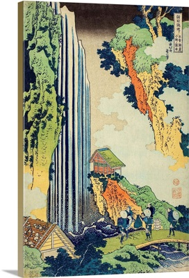 Ono Falls On The Kisokaido, From The Series A Tour Of Waterfalls In Various Provinces