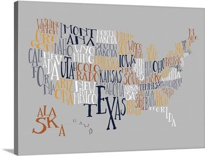 Overlook US Typography Map