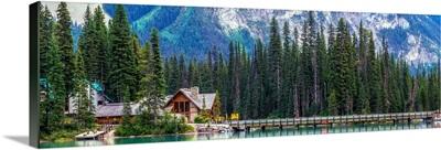 Panoramic View of Emerald Lake, Yoho National Park, British Columbia, Canada