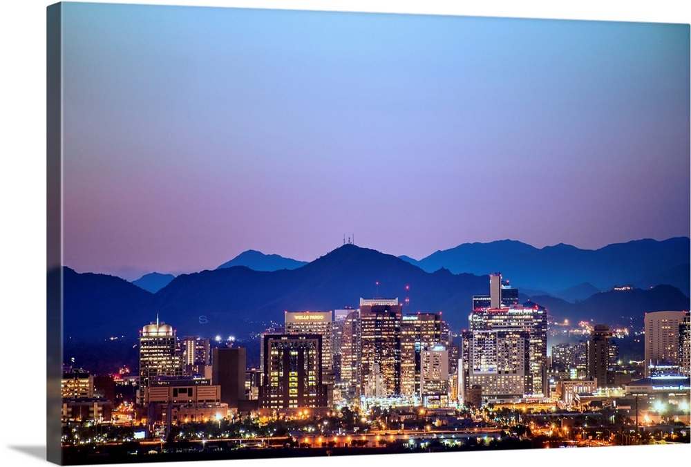 Phoenix, AZ Skyline at Sunset Wall Art