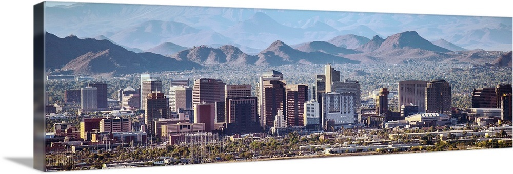 Phoenix, AZ Skyline - Panoramic Wall Art
