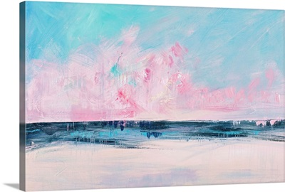 Pink Sunset Over the Shore I