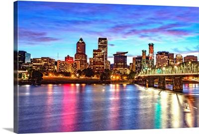 Portland, OR Skyline at Sunset