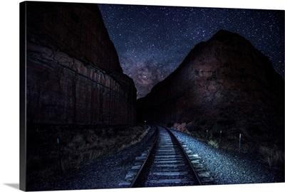 Railroad Tracks Near Arches National Park, Utah