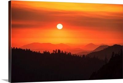 Red Sky, Sequoia National Park, California