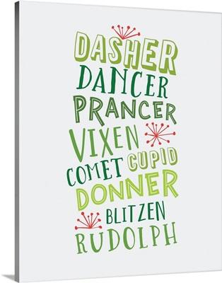 Reindeer Names - Green