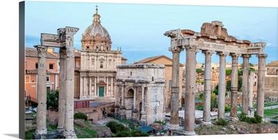 Roman Forum, Rome, Italy, Europe - Panoramic