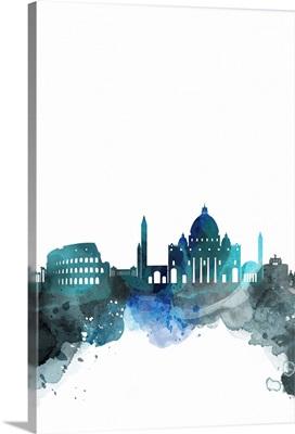 Rome Watercolor Cityscape
