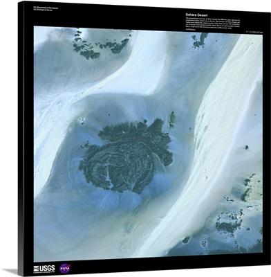 Sahara Desert - USGS Earth as Art