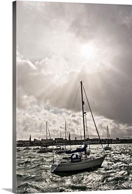 Sailboats on River Liffey, Dublin, Ireland