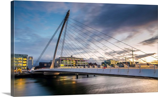 Samuel Beckett Bridge at Sunset, Dublin, Ireland, UK