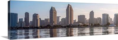San Diego, California Skyline from Water - Panoramic
