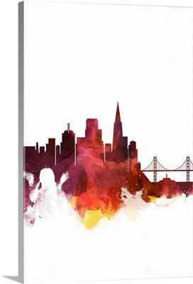 San Francisco Watercolor Cityscape