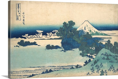 Shichirigahama in Sagami Province, from the series Thirty-six Views of Mount Fuji