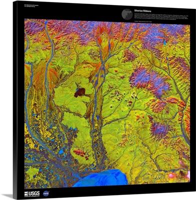Siberian Ribbons - USGS Earth as Art