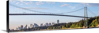 Side View Of Lions Gate Bridge, Vancouver, British Columbia, Canada