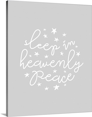 Sleep in Heavenly Peace - Light Gray