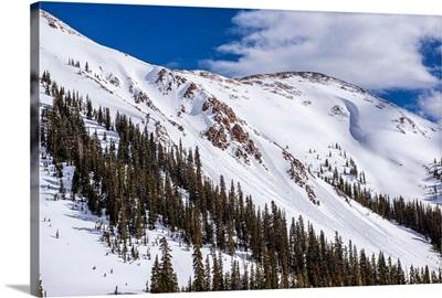 Snowy Mountainside in Colorado