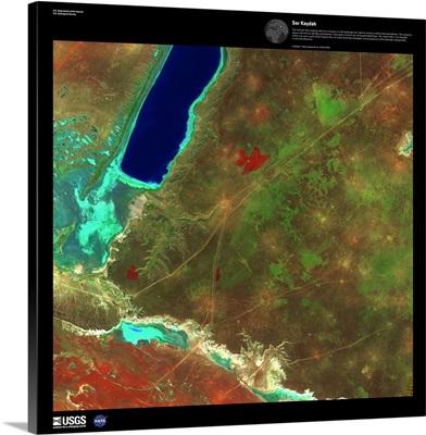 Sor Kaydak - USGS Earth as Art