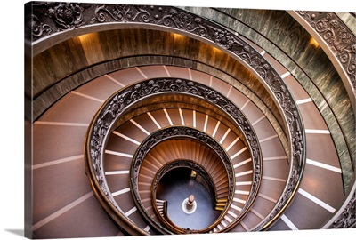 Spiral Staircase, Vatican Historical Museum, Vatican City, Italy, Europe