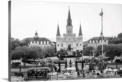 St. Louis Cathedral and Jackson Square, New Orleans, Louisiana