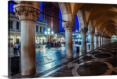 St. Mark's Square at Night, Venice, Italy, Europe