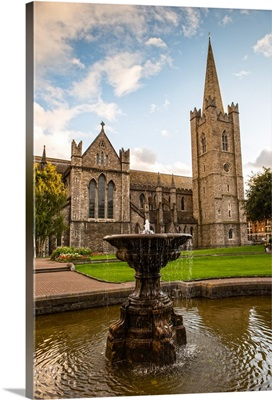 St Patrick's Cathedral with Fountain, Dublin, Ireland