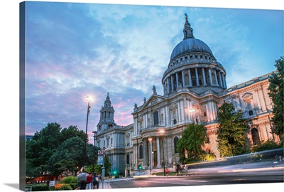 St. Paul's Cathedral After Sunset, London, England