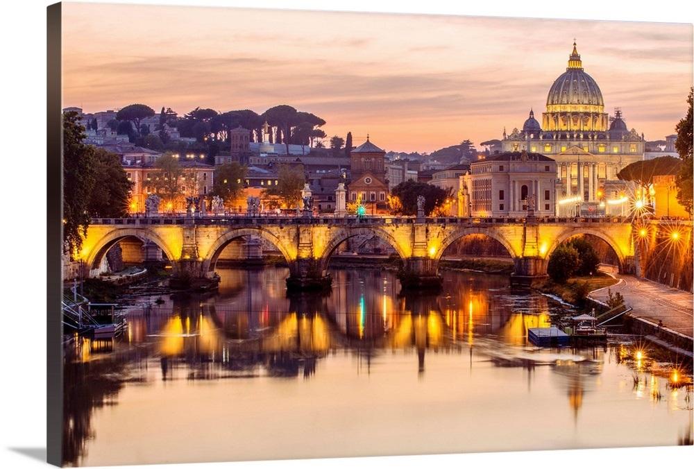 St. Peter's Basilica, River Tober, Vatican City, Italy
