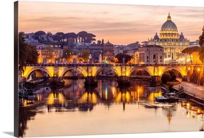 St. Peter's Basilica, River Tober, Vatican City, Italy, Europe