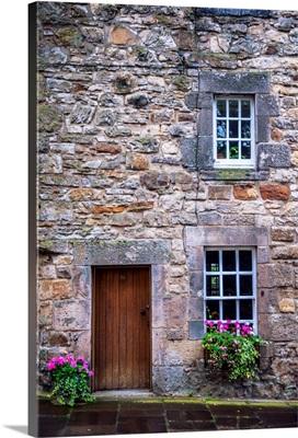 Stonework Of A Residence, Edinburgh, Scotland