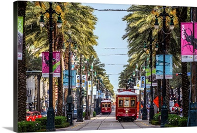 Streetcars In New Orleans, Louisiana