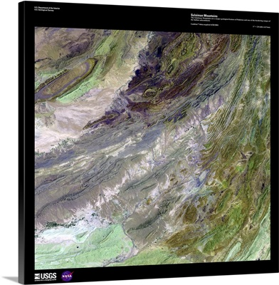 Sulaiman Mountains - USGS Earth as Art
