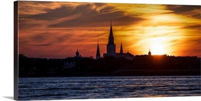 Sunset On St. Louis Cathedral In New Orleans, Louisiana