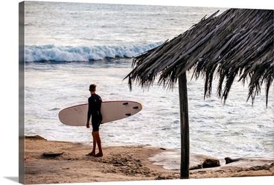 Surfer on Windansea Beach, San Diego, California