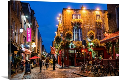 Temple Bar, Dublin, Ireland at Night
