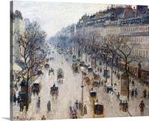 The Boulevard Montmartre on a Winter Morning
