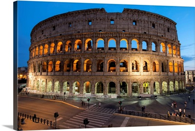 The Colosseum at Dusk, Rome, Italy, Europe